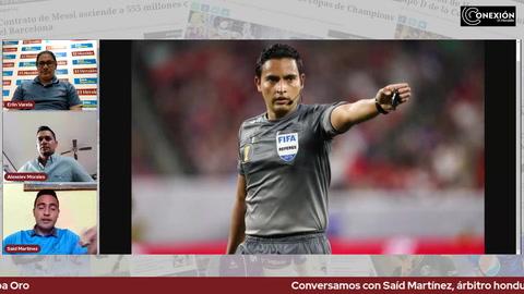 Conversamos con Saíd Martínez, árbitro hondureño que pitó la final de la Copa Oro