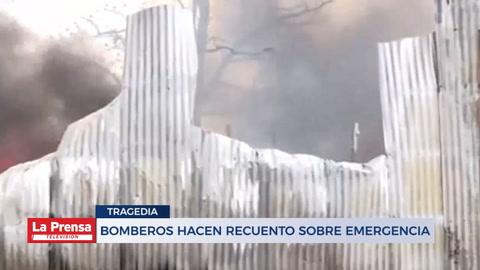 Bomberos hacen recuento sobre emergencia