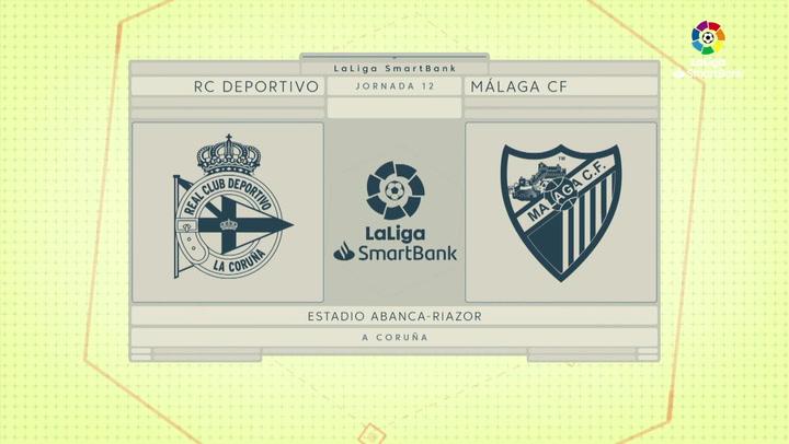 LaLiga SmartBank (J12): Resumen y goles del Deportivo 0-2 Málaga