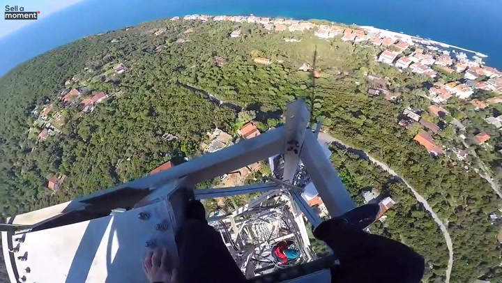 Daredevil shares view from top of tallest TV tower in Istanbul
