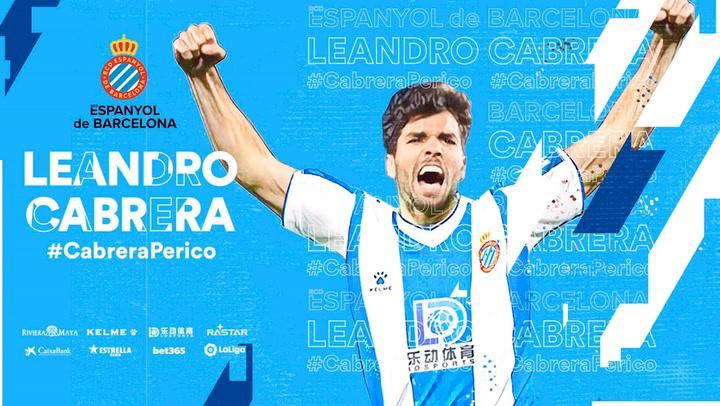 El Espanyol oficializa el fichaje de Leandro Cabrera