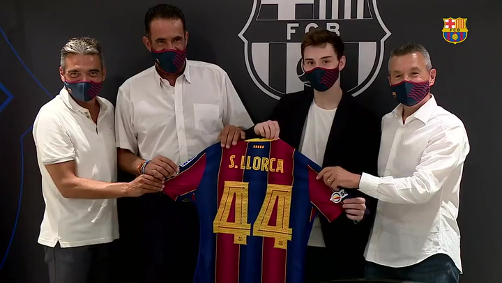 """Sergi Llorca, presentado con el Barça: """"Soy un jugador más maduro"""""""