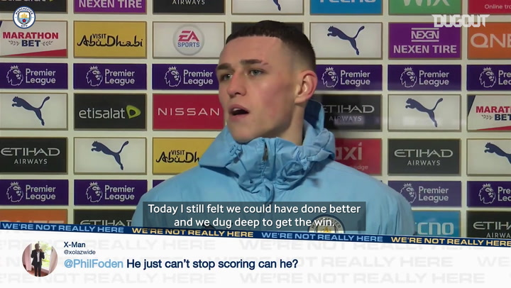 Manchester City's top scorer Phil Foden on the hunt for more goals