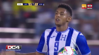 Choco Lozano descuenta para Honduras ante Jamaica