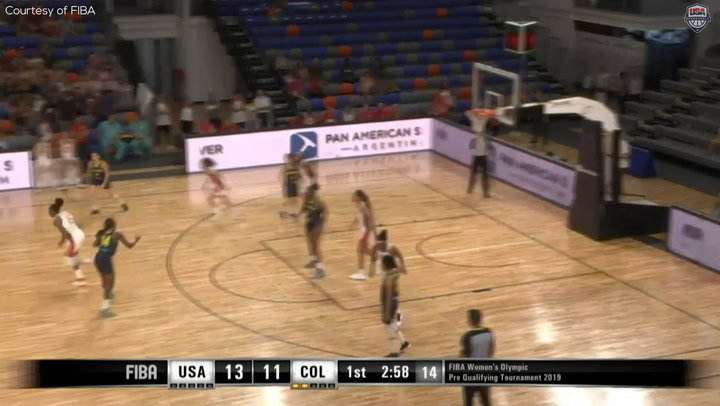Highlights: USA 104, Colombia 48