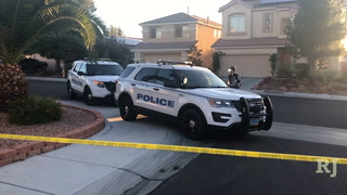 A North Las Vegas police officer was injured when a driver rammed his patrol car in an incident that led to police gunfire.