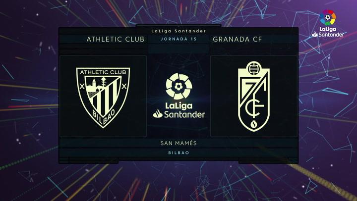 LaLiga Santander (J15): Resumen y goles del Athletic 2-0 Granada