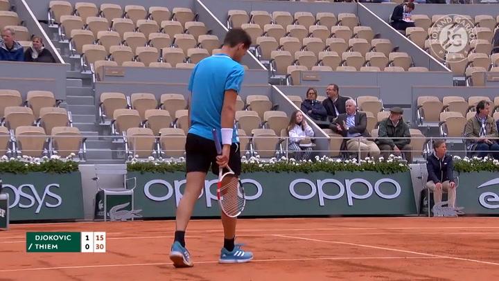 Thiem vence a Djokovic y llega a la final de Roland Garros