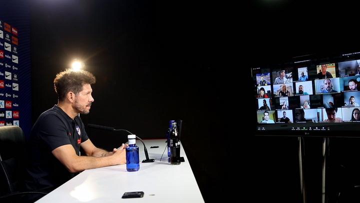 La rueda de prensa de Simeone