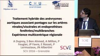 Traitement hybride des anévrismes aortiques associant pontages sur les artères rénales/viscérales et endoprothèses fenêtrées/multibranches : expérience multicentrique régionale