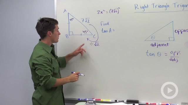 Trigonometric Ratios: Tangent - Problem 2