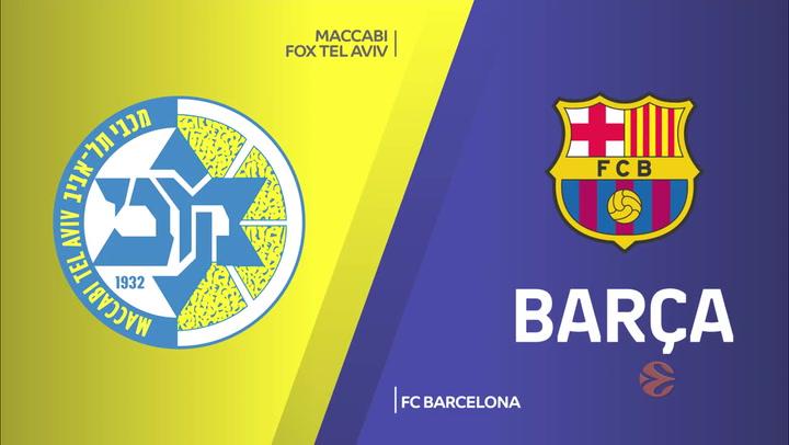Euroliga: Maccabi FOX Tel Aviv - FC Barcelona
