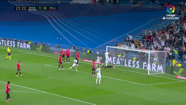 Gol de Asensio (2-0) en el Real Madrid 6-1 Mallorca