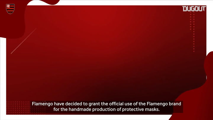 Flamengo release the use of their brand for homemade masks