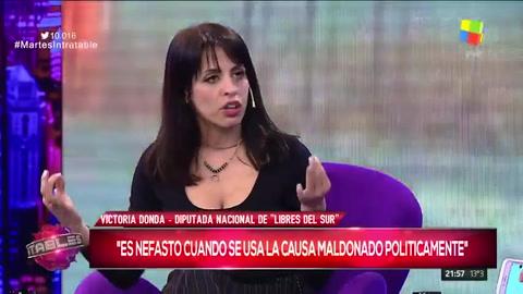 Es inconcebible que Macri salga un mes después a dar la cara, dijo Donda sobre el caso Maldonado