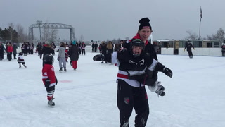 Skating with the Duluth East Greyhounds at Bayfront Festival Park