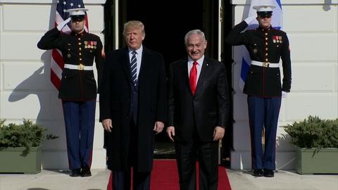 Trump recibe a Netanyahu optimista sobre plan de paz que revelará el martes