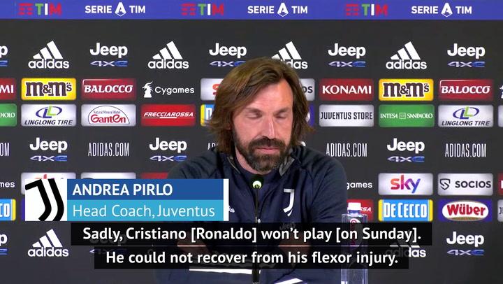 Pirlo confirms Ronaldo injury blow for crucial Juve clash