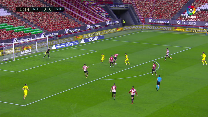 Gol de Gerard Moreno (0-1) en el Athletic 1-1 Villarreal