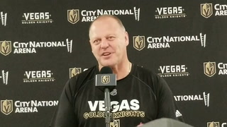 Golden Knights coach Gerard Gallant on playing vs. Detroit