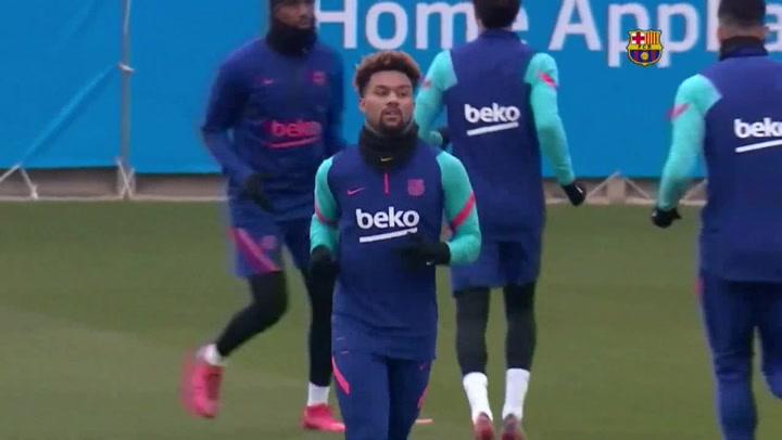 Barcelona entrena con miras al próximo por Copa del Rey