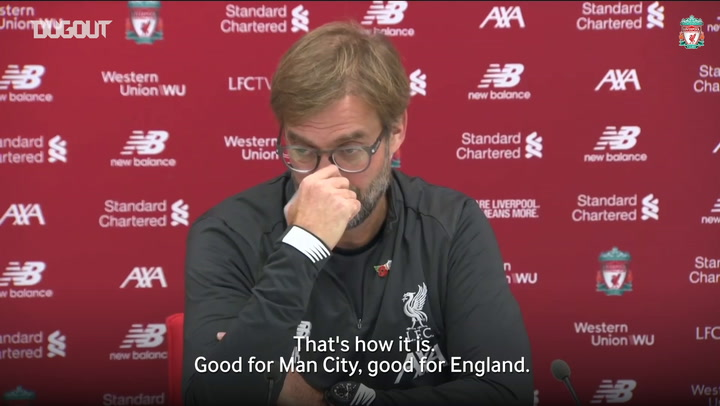 Jürgen Klopp conscious of the threat of Raheem Sterling and Kevin De Bruyne