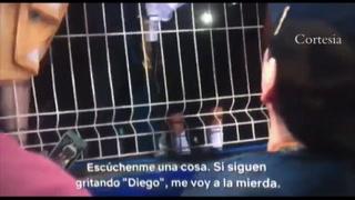 El vergonzoso video de Maradona ofendiendo a un grupo de niños