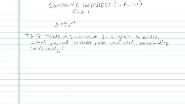 Compound Interest (Continuously) - Problem 7