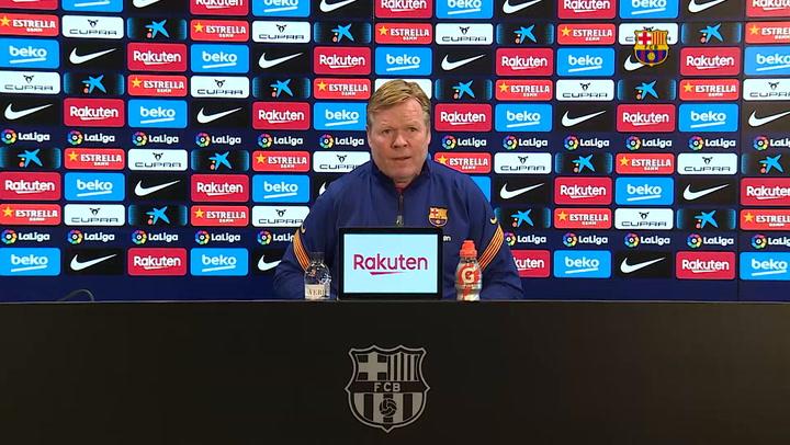 Rueda de prensa de Ronald Koeman en la previa del partido contra el Huesca