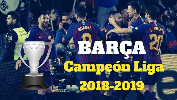 El Barça campeón de Liga 2018-2019