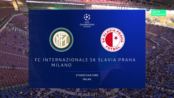 Champions League: Resumen y Goles del Inter-Slavia de Praga