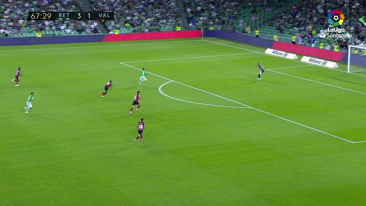 Gol de Juanmi (4-1) en el Betis 4-1 Valencia