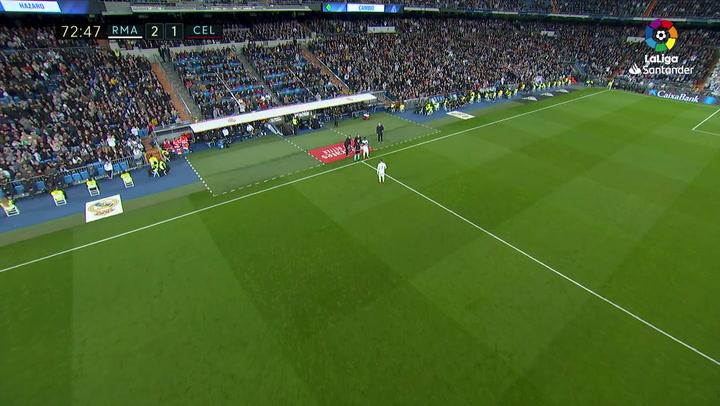 El Bernabéu ovacionó a Hazard tras su vuelta casi tres meses después