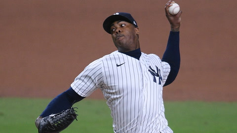 What are the odds that Yankees' Aroldis Chapman leads MLB in saves this season?