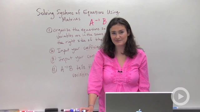 Solving Systems using Matrices - Concept