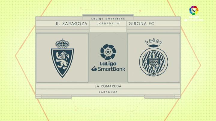 LaLiga SmartBank (J18): Resumen y goles del Zaragoza 3-3 Girona