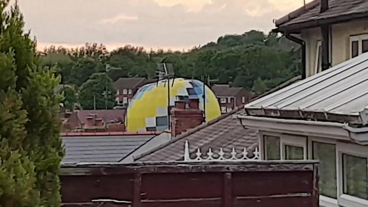 Hot air balloon crashes into West Midlands housing estate