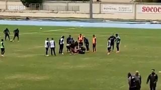 Futbolista brasileño que sufrió dos infartos en una practica de su club