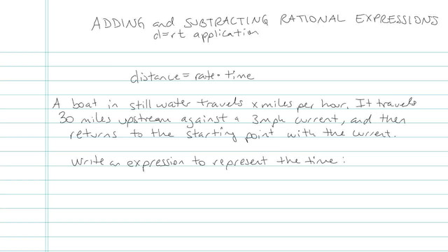 Adding and Subtracting Rational Expressions - Problem 9