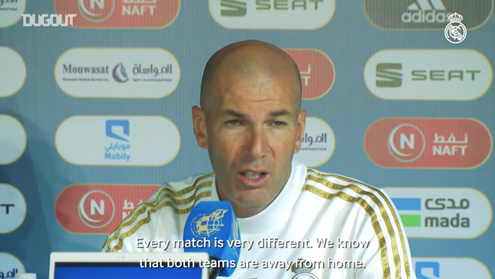 Zidane: 'It's an important competition and we want to give our best'