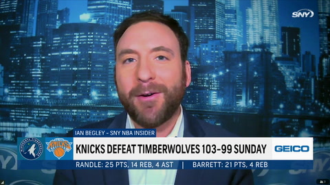 Ian Begley explains his biggest takeaway from the Knicks' win over the Timberwolves