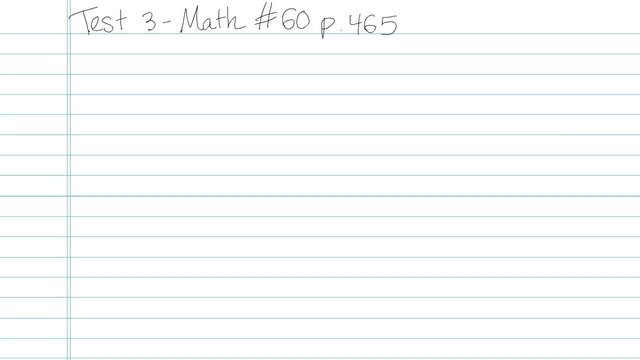 Test 3 - Math - Question 60