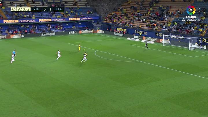 Gol de Alberto Moreno (4-1) en el Villarreal 4-1 Elche
