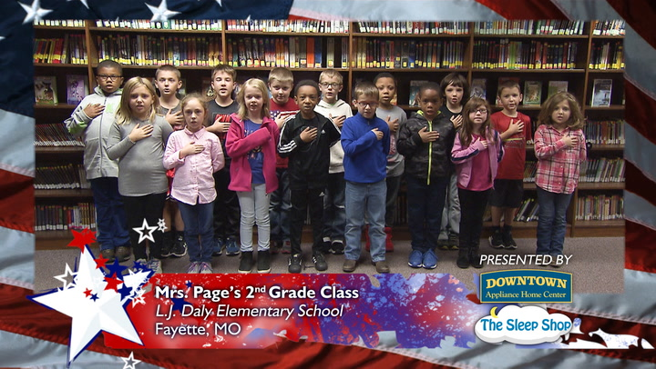 Daily Pledge - L.J. Daly Elementary School - Mrs. Page - 2nd Grade