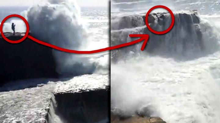 Monsterbølgen prøver å kaste henne ned i Ormehullet