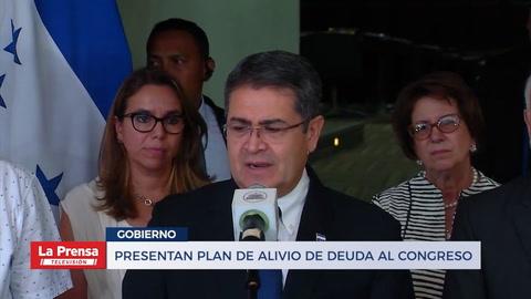 Presentan plan de alivio de deuda al Congreso Nacional