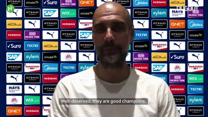 Guardiola congratulates Liverpool on first Premier League title