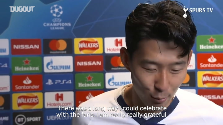 Son Heung-min 'grateful' for fans support