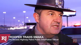 NHP Trooper Travis Smaka explains a fatal, wrong-way crash on Interstate 15