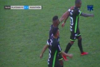 Yerson Gutiérrez aumenta la goleada de Marathón sobre Platense en Puerto Cortés